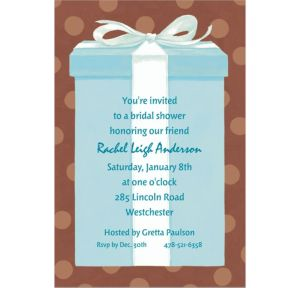 Custom The Special Gift Box Bridal Shower Invitations