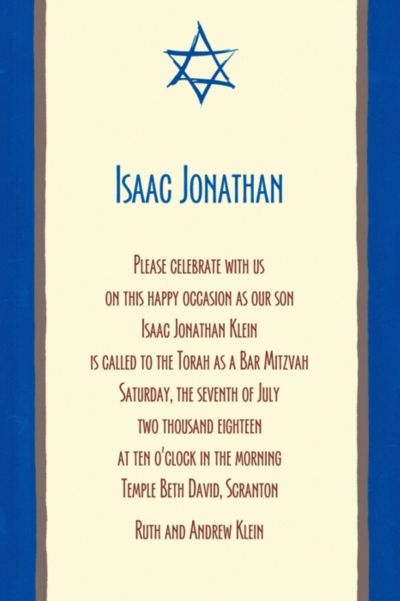 Custom Mod Star of David Invitations