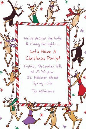 Custom Dancing Reindeer Invitations