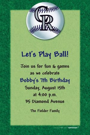 Custom Colorado Rockies Invitations