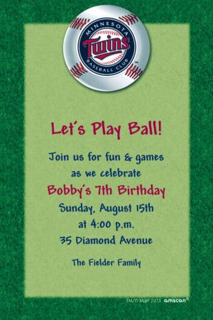 Custom Minnesota Twins Invitations