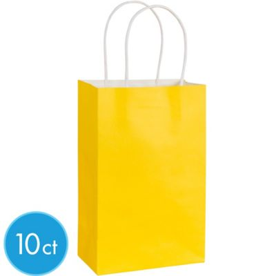 Yellow Kraft Bags 10ct