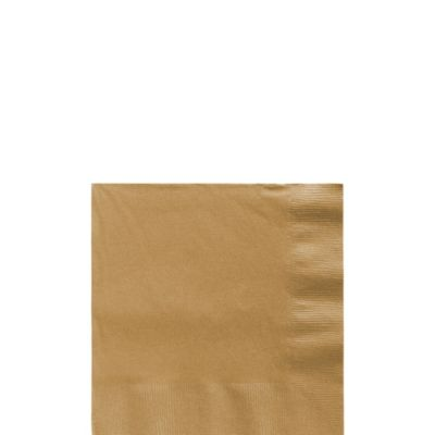 Gold Beverage Napkins 50ct