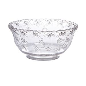 CLEAR Plastic Crystal Cut Punch Bowl