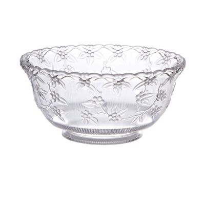 CLEAR Plastic Punch Bowl