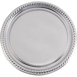 Silver Plastic Braided Edge Platter