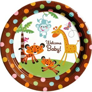 Fisher-Price Jungle Baby Shower Dinner Plates 8ct