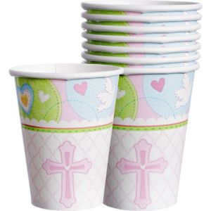 Pink Sweet Religious Cups 8ct