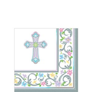 Blessed Day Religious Beverage Napkins 36ct