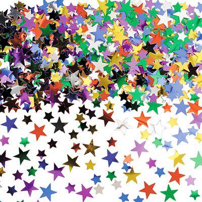 Multicolor Star Confetti 5oz