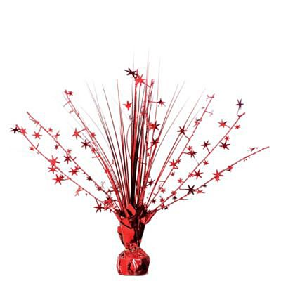 Red Foil Spray Centerpiece