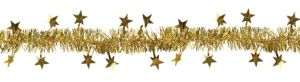 Gold Star Tinsel Garland