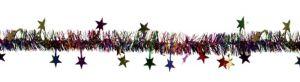Multicolor Star Tinsel Garland