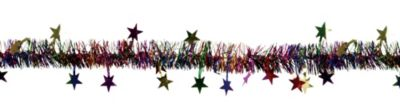 Multicolor Star Tinsel Garland
