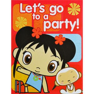 Ni Hao Kai Lan Invitations and Thank You Combo