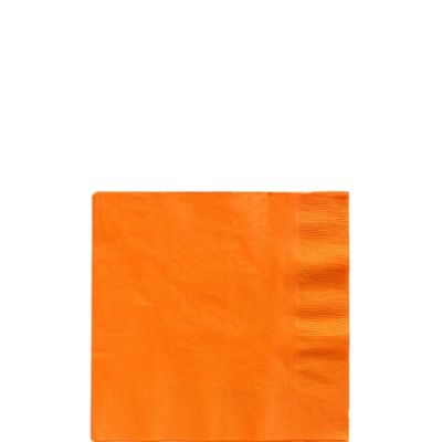 Orange Beverage Napkins 125ct