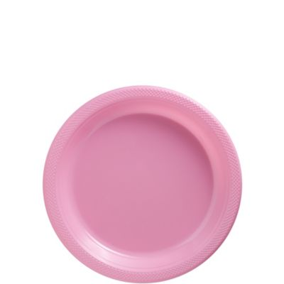 Pink Plastic Dessert Plates 50ct