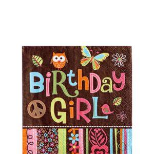 Hippie Chick Birthday Beverage Napkins 16ct