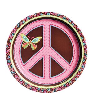 Hippie Chick Dessert Plates 8ct