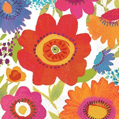 Floral Splash Lunch Napkin 16ct