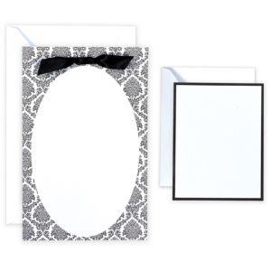Black & White Oval Printable Wedding Invitations Kit 50ct