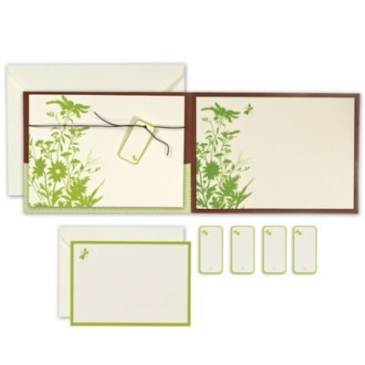 Green Floral Pocket Printable Wedding Invitations Kit 25ct