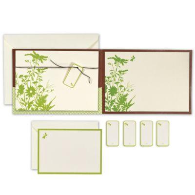 Green Floral Pocket Printable Wedding Invitations Kit 25ct