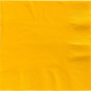 Sunshine Yellow Dinner Napkins 50ct