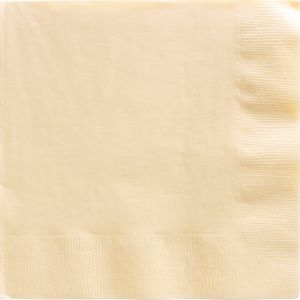 Big Party Pack Vanilla Cream Dinner Napkins 50ct