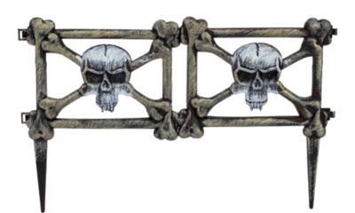 Ghouls Graveyard Halloween Fence