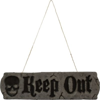 Foam Keep Out Plaque
