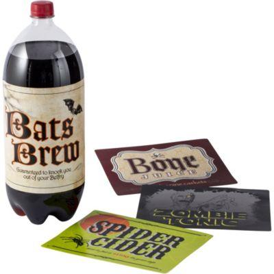 Shocktails Halloween 2-Liter Bottle Labels 4ct
