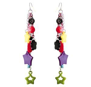 Multi Color Dangle Earrings