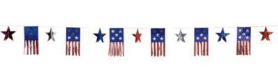 Foil American Flag Banner