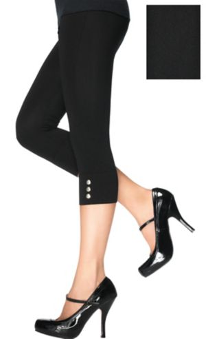 Adult Black Capri Leggings