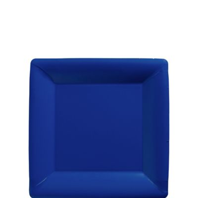 Royal Blue Paper Square Dessert Plates 20ct