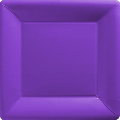 Purple Paper Square Dinner Plates 20ct