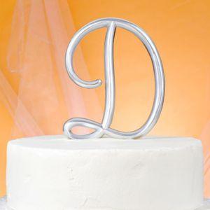 Monogram D Wedding Cake Topper