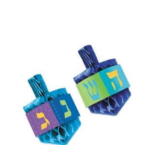 Honeycomb Dreidel Centerpiece Set 2pc