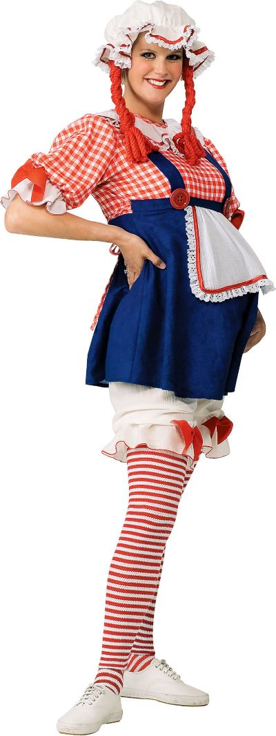 Adult Rag Doll Maternity Costume Deluxe