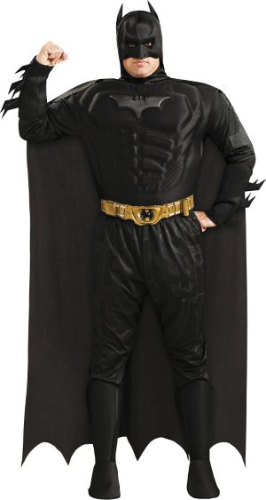 Adult Batman Muscle Costume Plus Size Deluxe - The Dark Knight