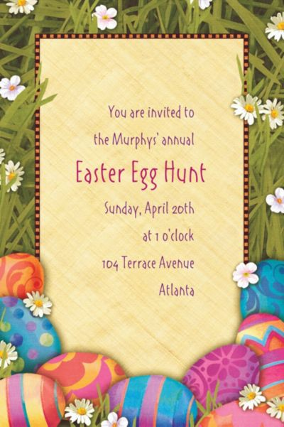 Custom Easter Elegance Invitations