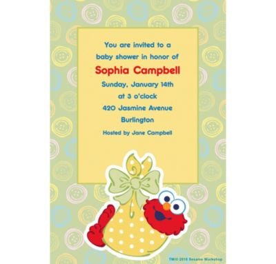 Custom Baby Elmo Baby Shower Invitations