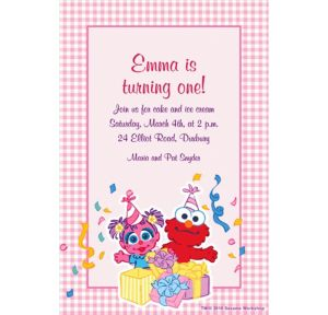 Custom Abby Cadabby 1st Birthday Invitations