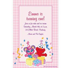 Custom Abby Cadabby 1st Birthday Invitations