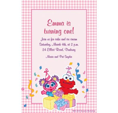 Abby Cadabby 1st Birthday Custom Invitation