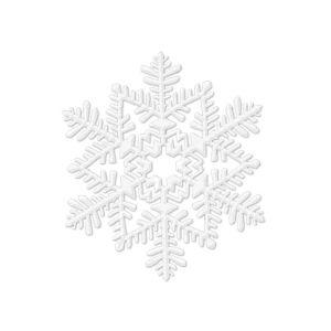 Glitter White Snowflake