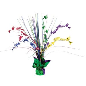 Multicolor Happy Birthday Spray Centerpiece