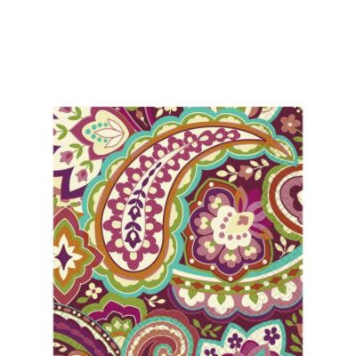 Plum Paisley Beverage Napkins 16ct