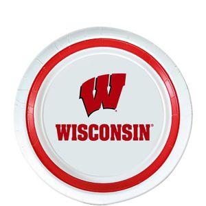 Wisconsin Badgers Dessert Plates 12ct